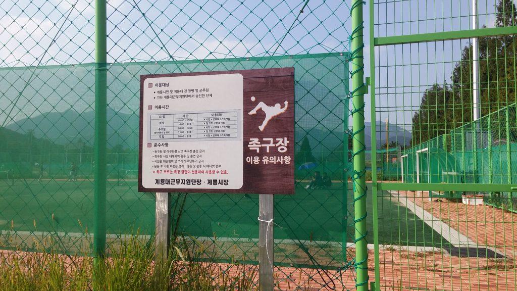 韓国でポピュラーなスポーツ「족구(チョック)」